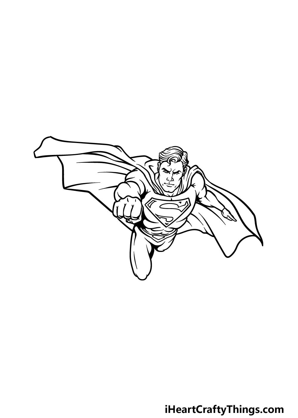 drawing Superman step 5
