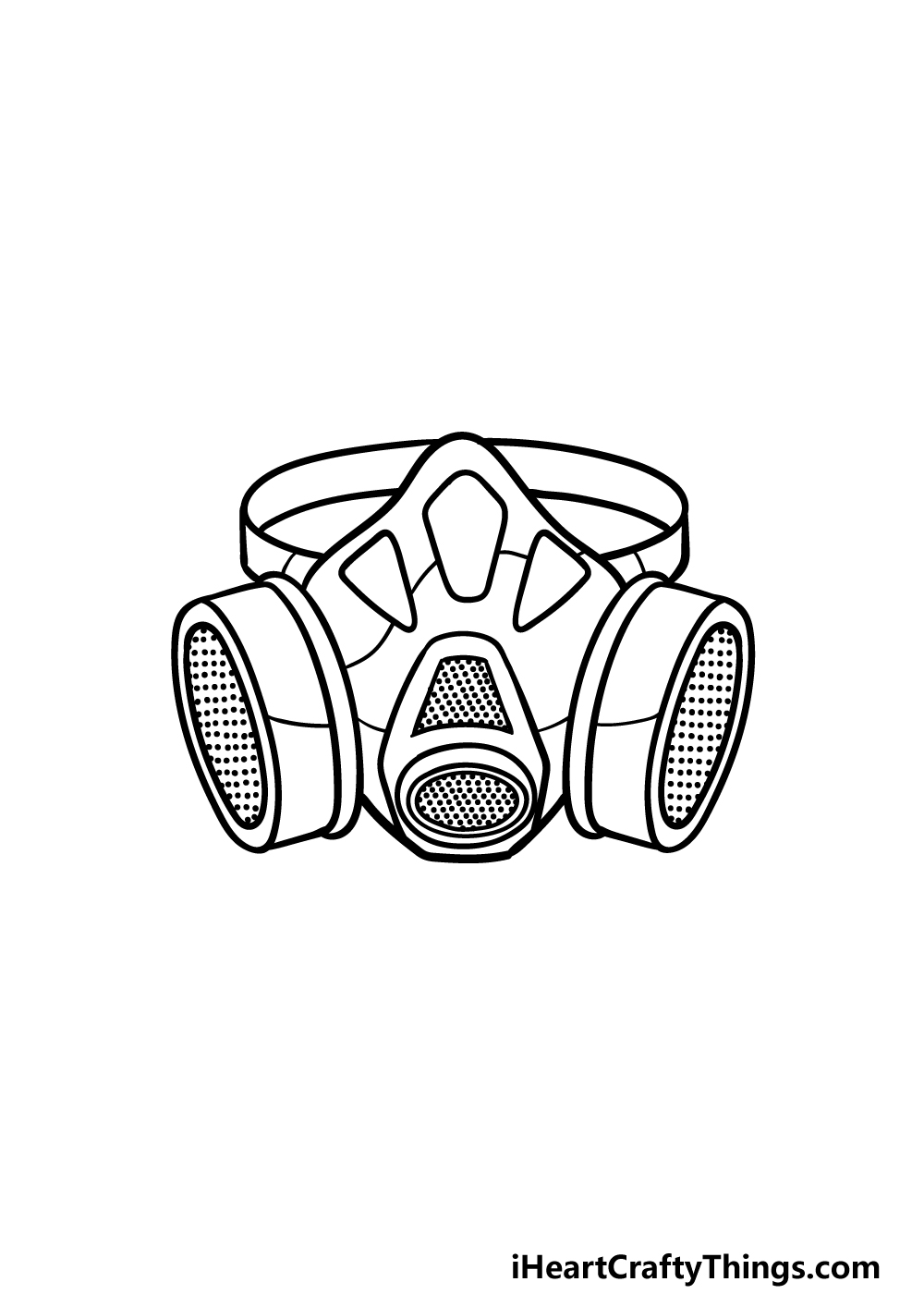 drawing Gas Mask step 5