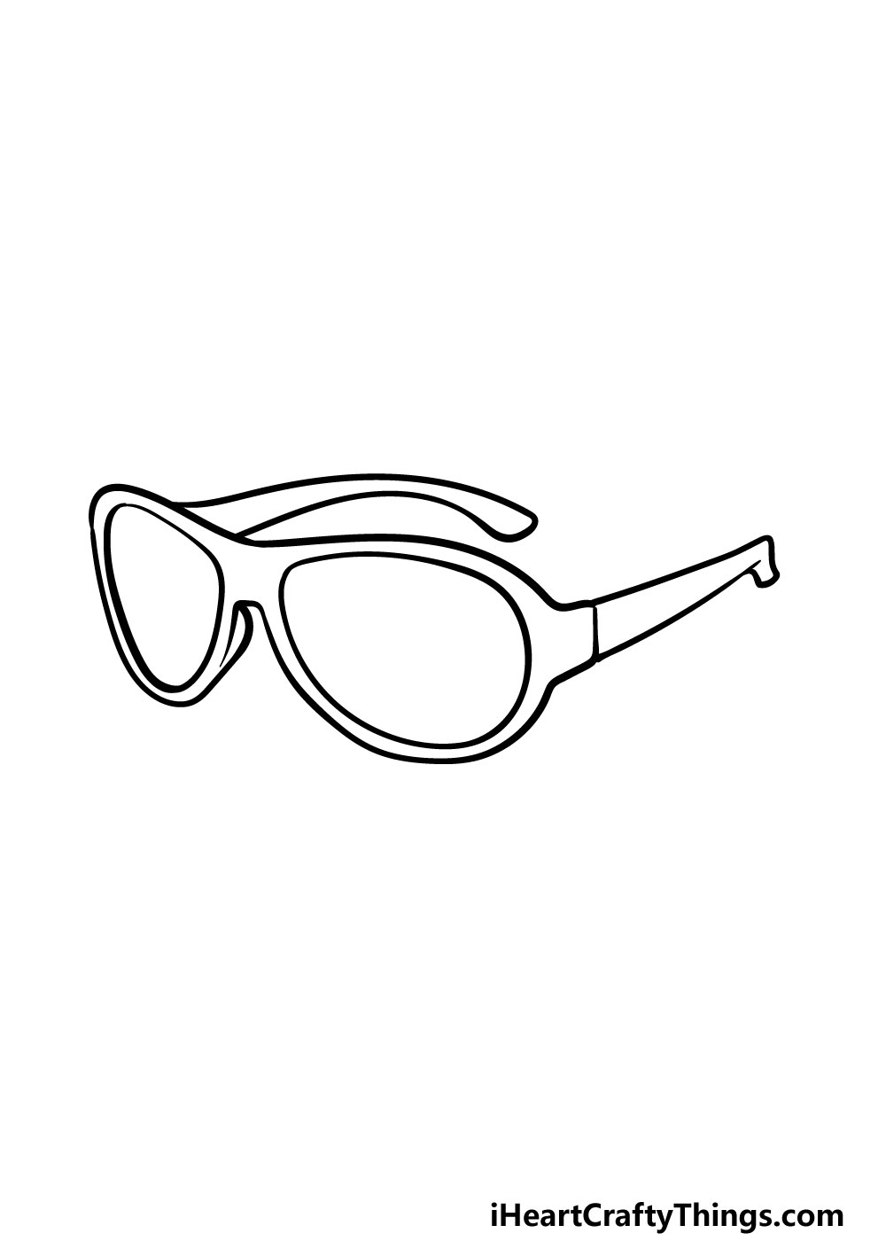 drawing sunglasses step 5
