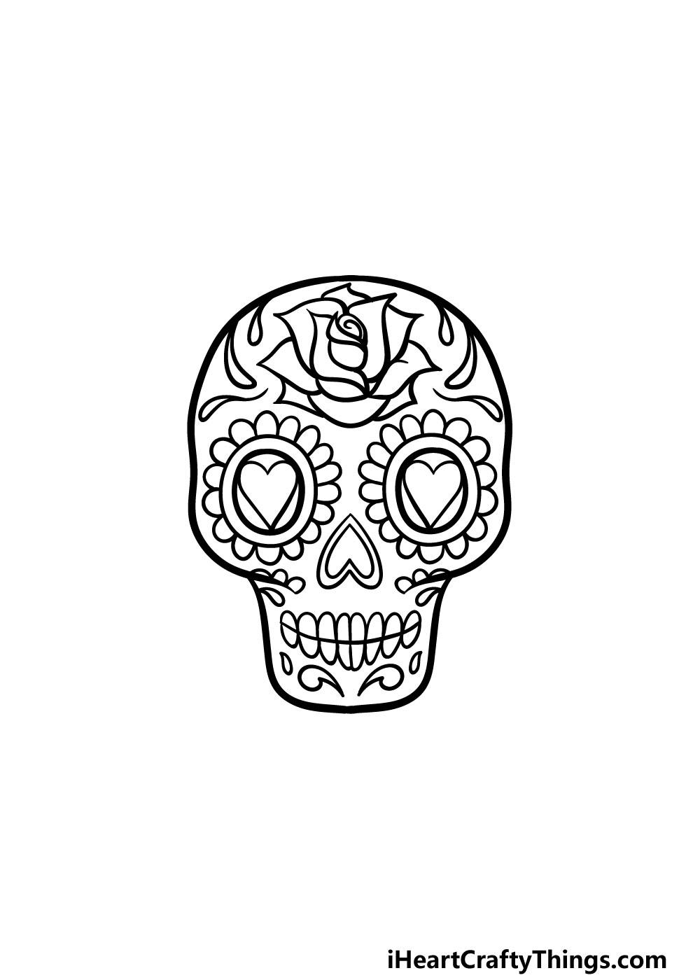 drawing a sugar skull step 5