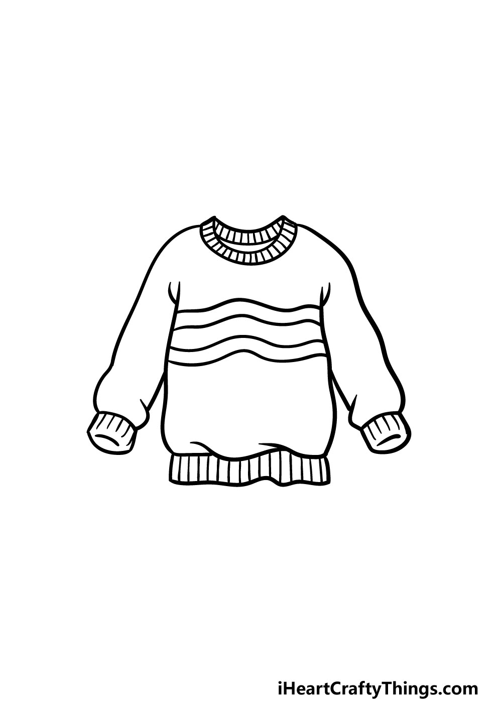 drawing a sweater step 5
