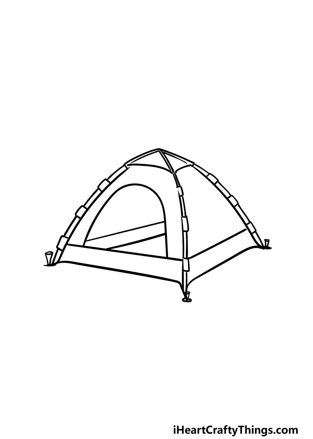 drawing a tent step 5