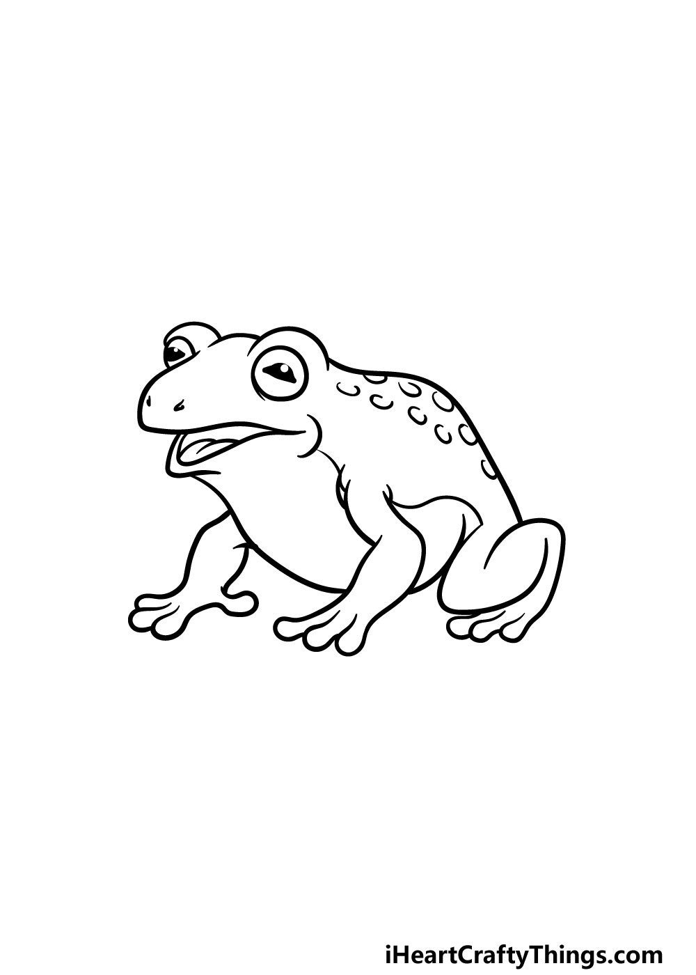 drawing a toad step 5