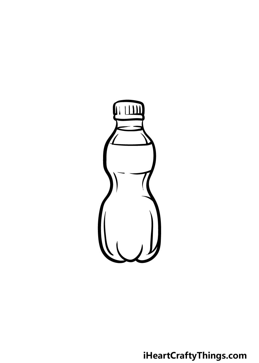 drawing a water bottle step 5