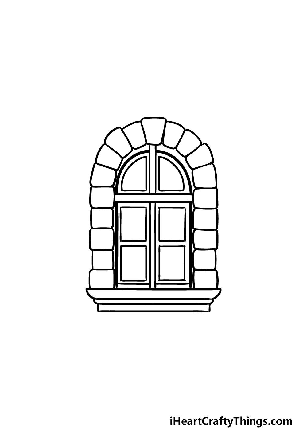 drawing a window step 5
