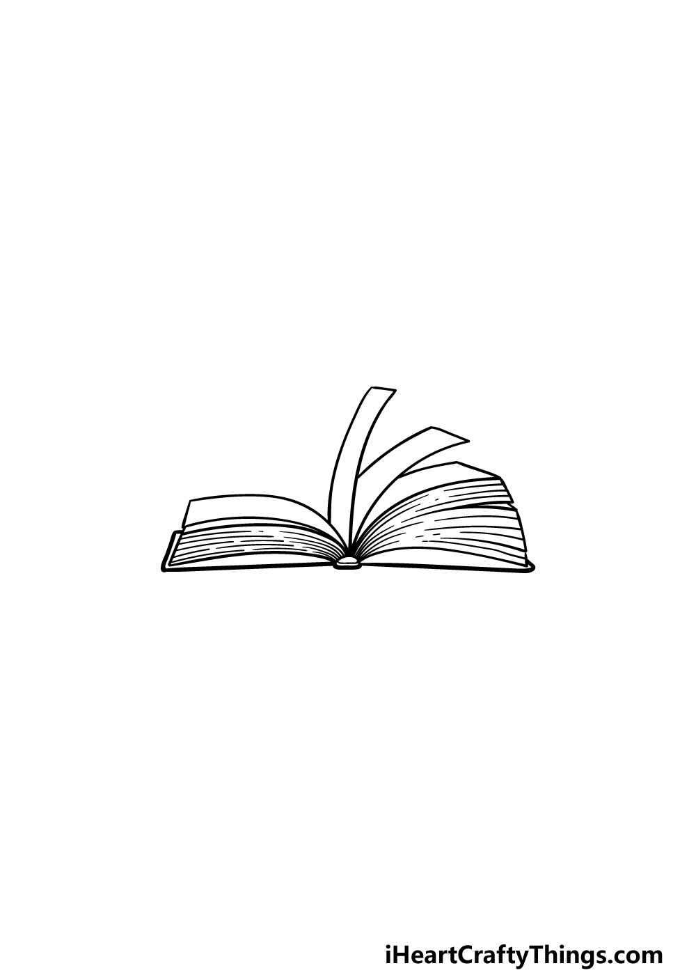 drawing an open book step 5
