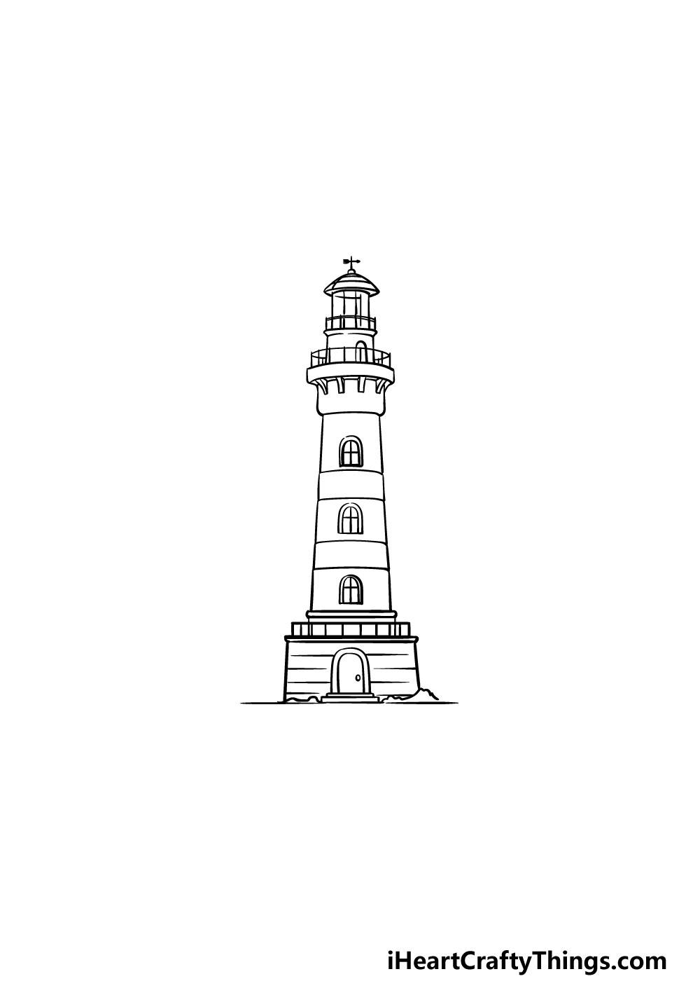 vẽ ngọn hải đăng bước 5