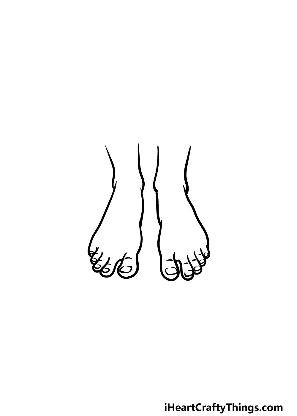 drawing feet step 5