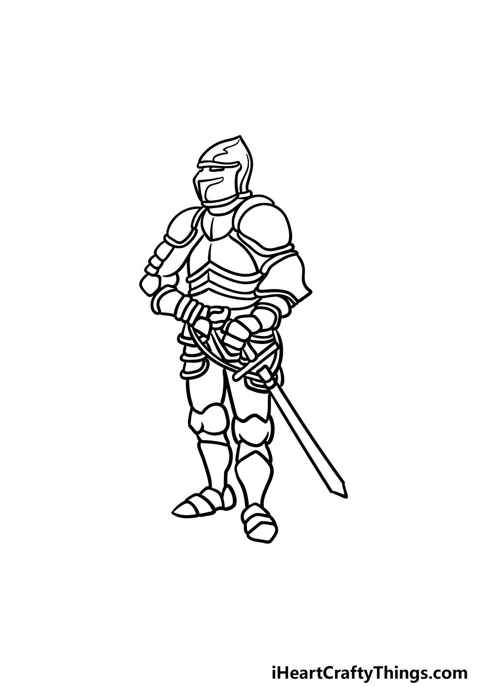 drawing armor step 5