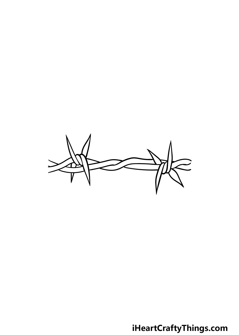 drawing barbed wire step 5