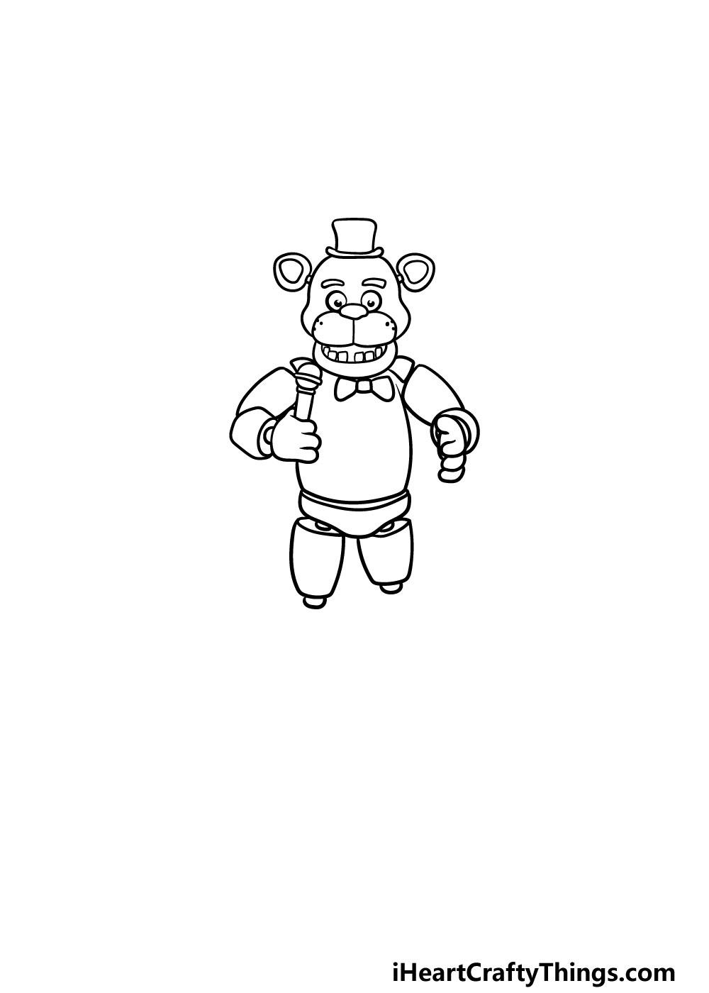 drawing Freddy Fazbear step 5