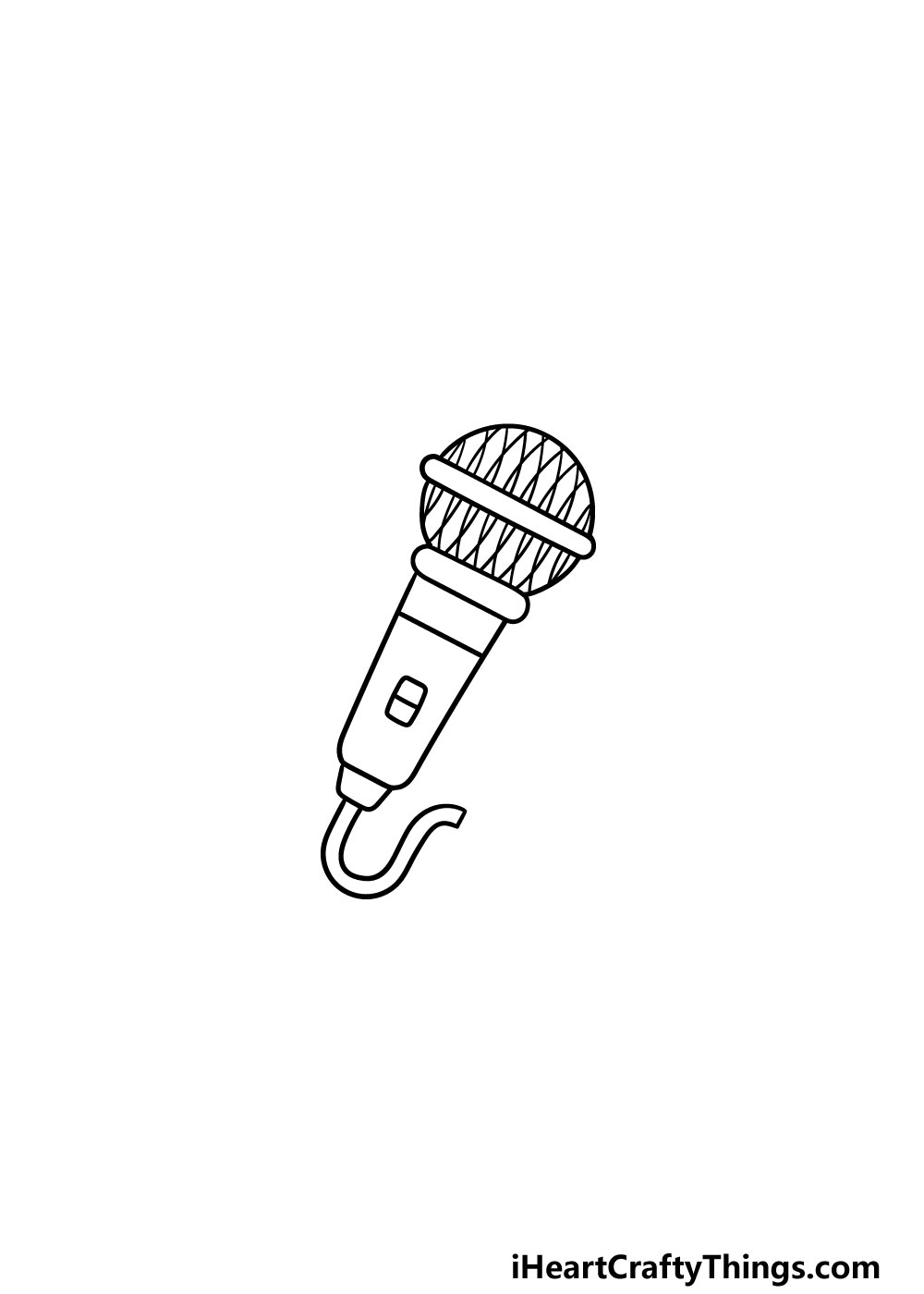 drawing a microphone step 5