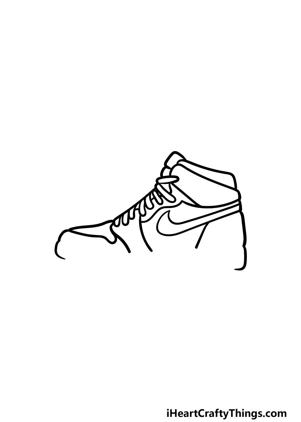 drawing air jordan shoes step 5
