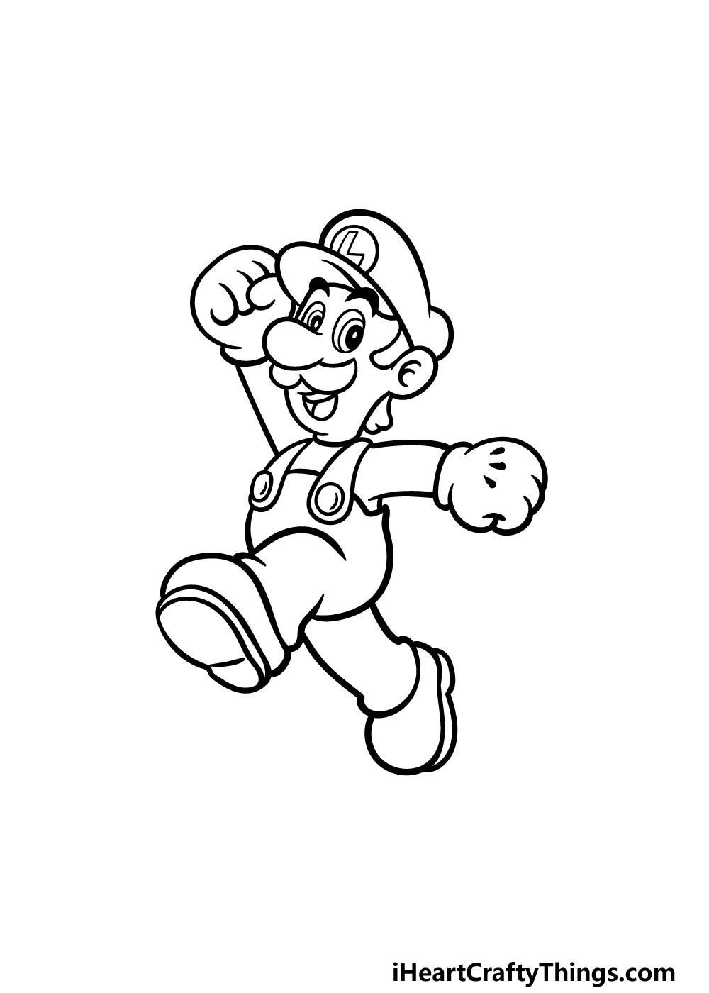 drawing luigi step 5