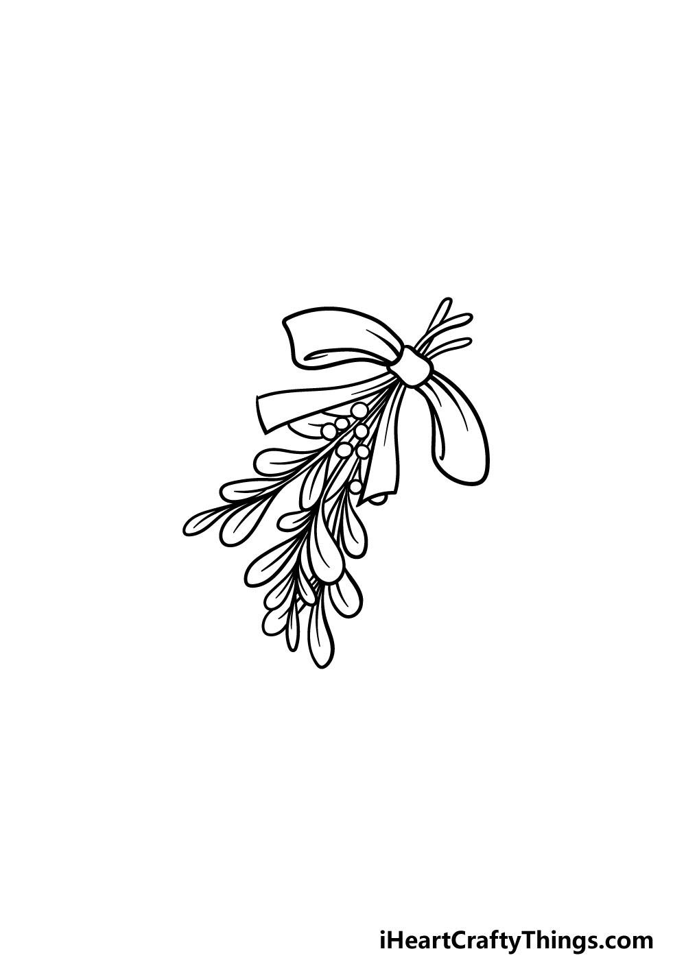 drawing a mistletoe step 5
