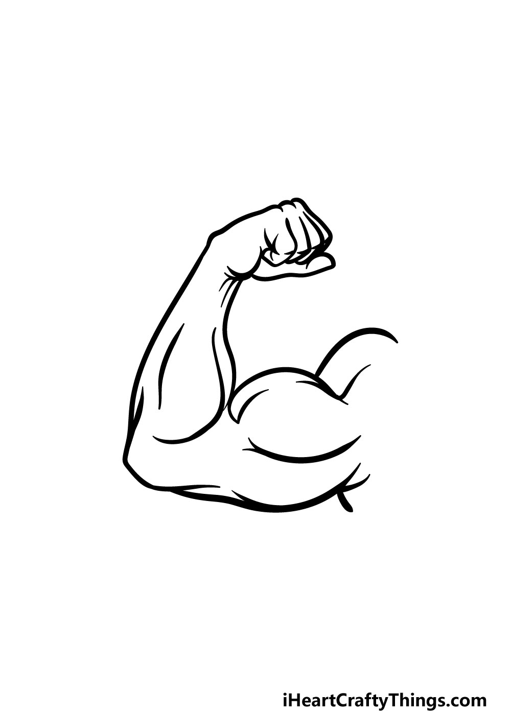 drawing a muscular arm step 5