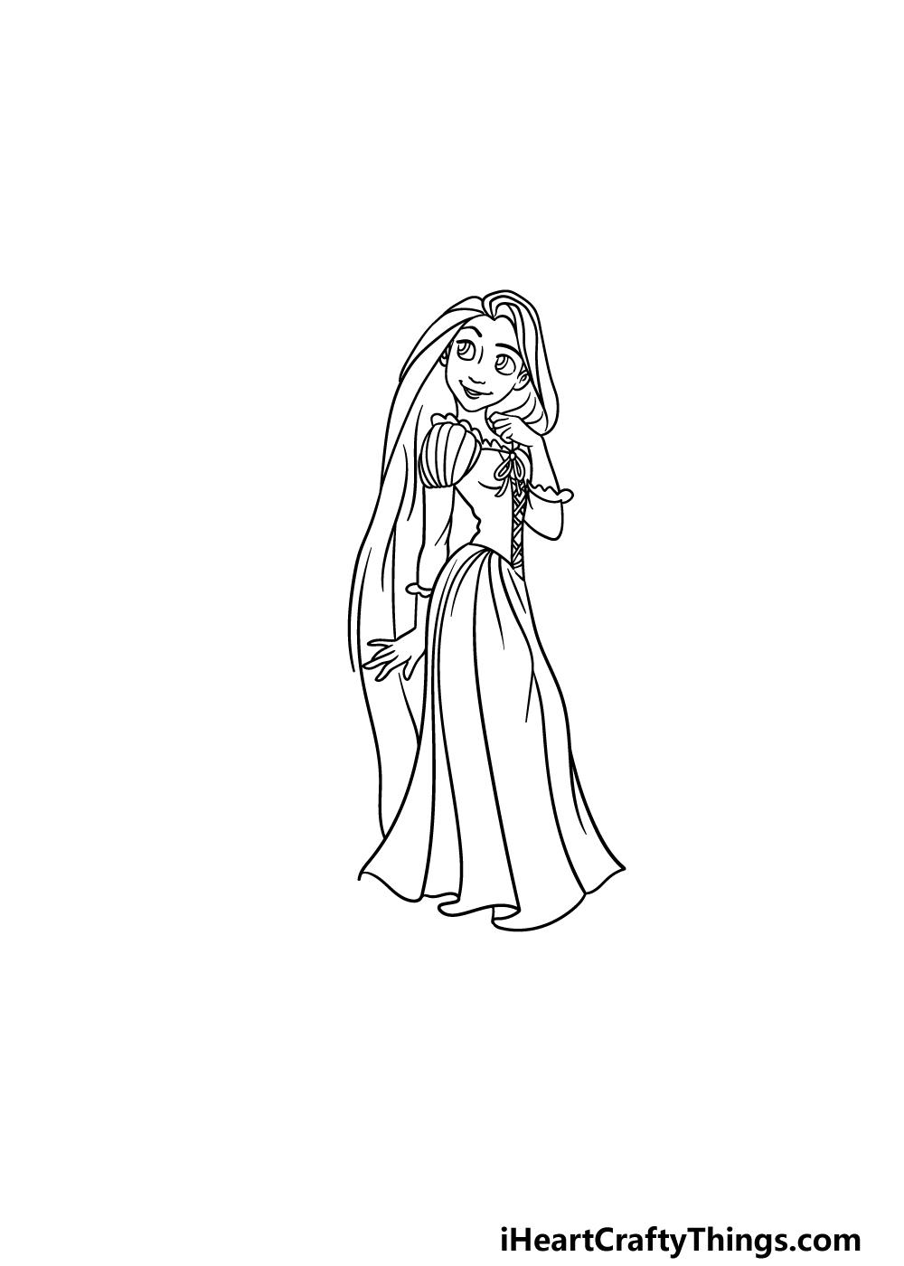 drawing Rapunzel step 5