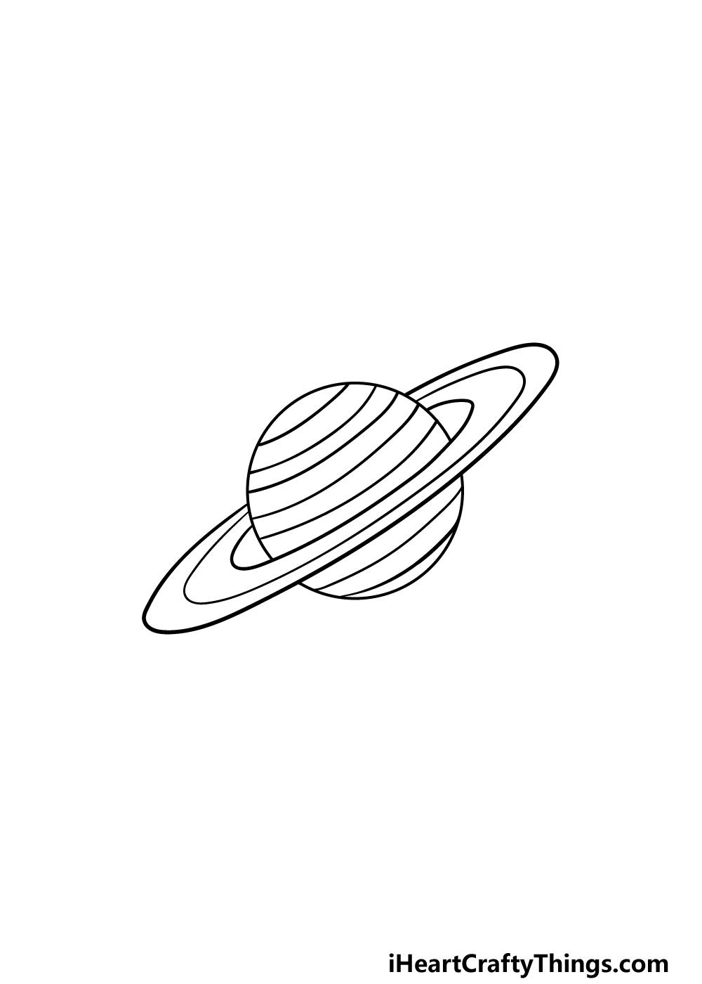 drawing Saturn step 5