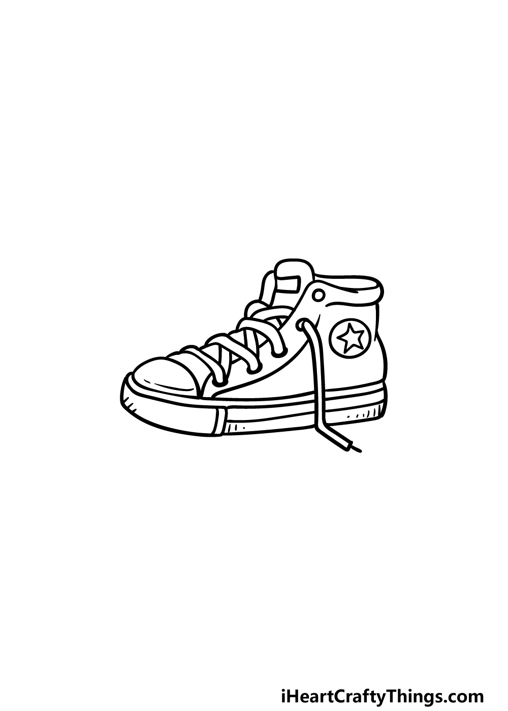 drawing sneakers step 5