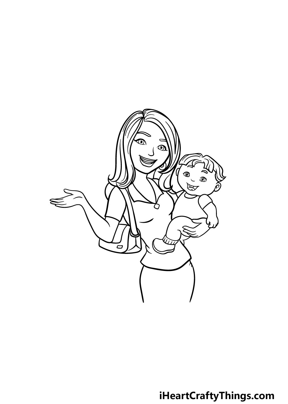 drawing a mom step 5