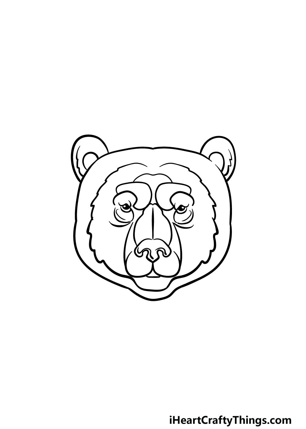 drawing a bear face step 5