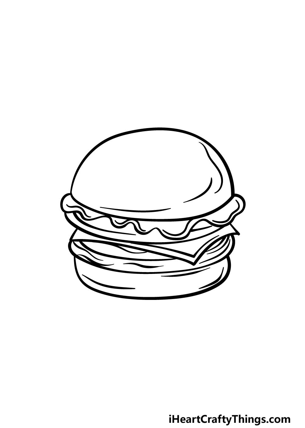 drawing a burger step 5