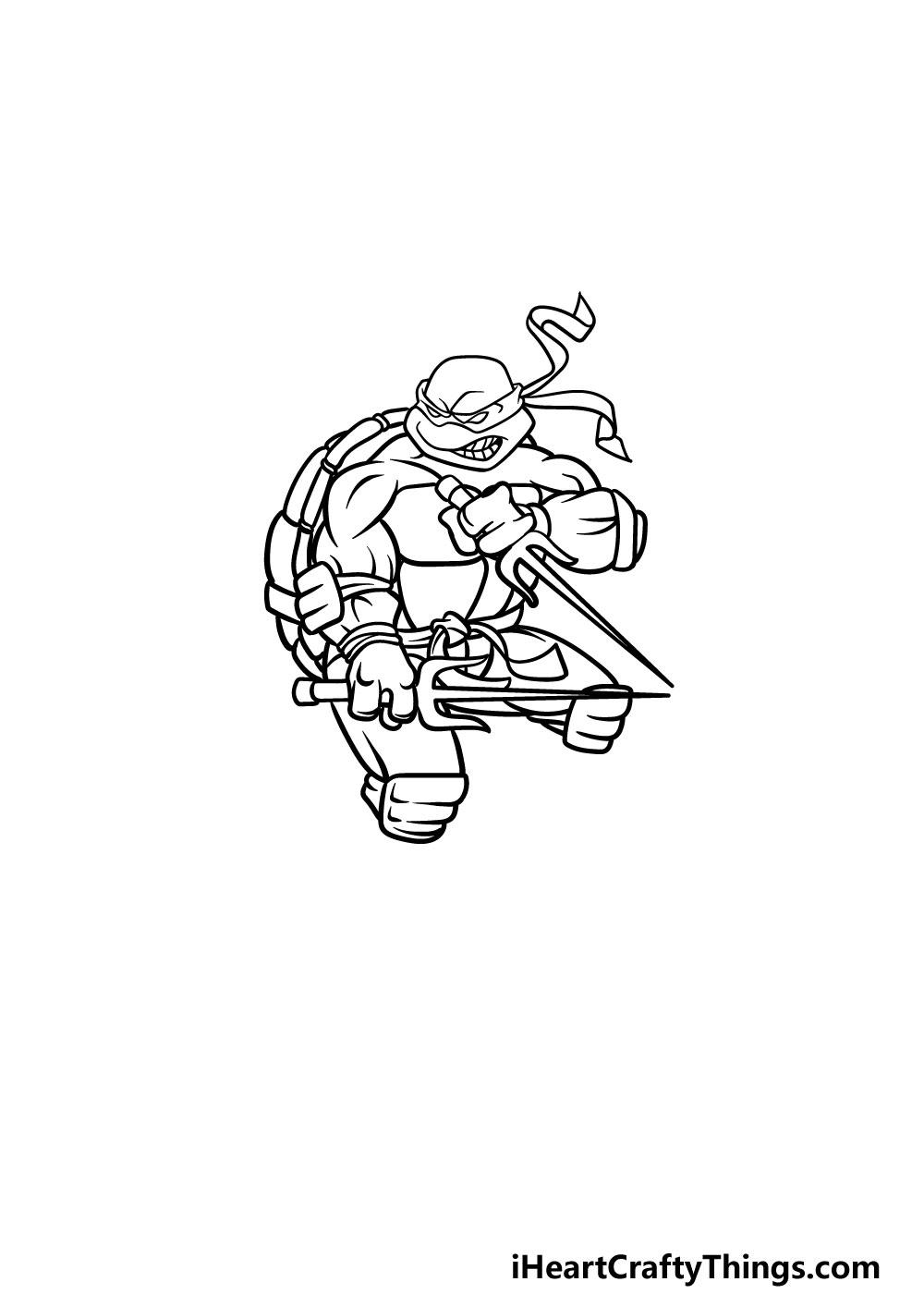 drawing ninja turtles step 5