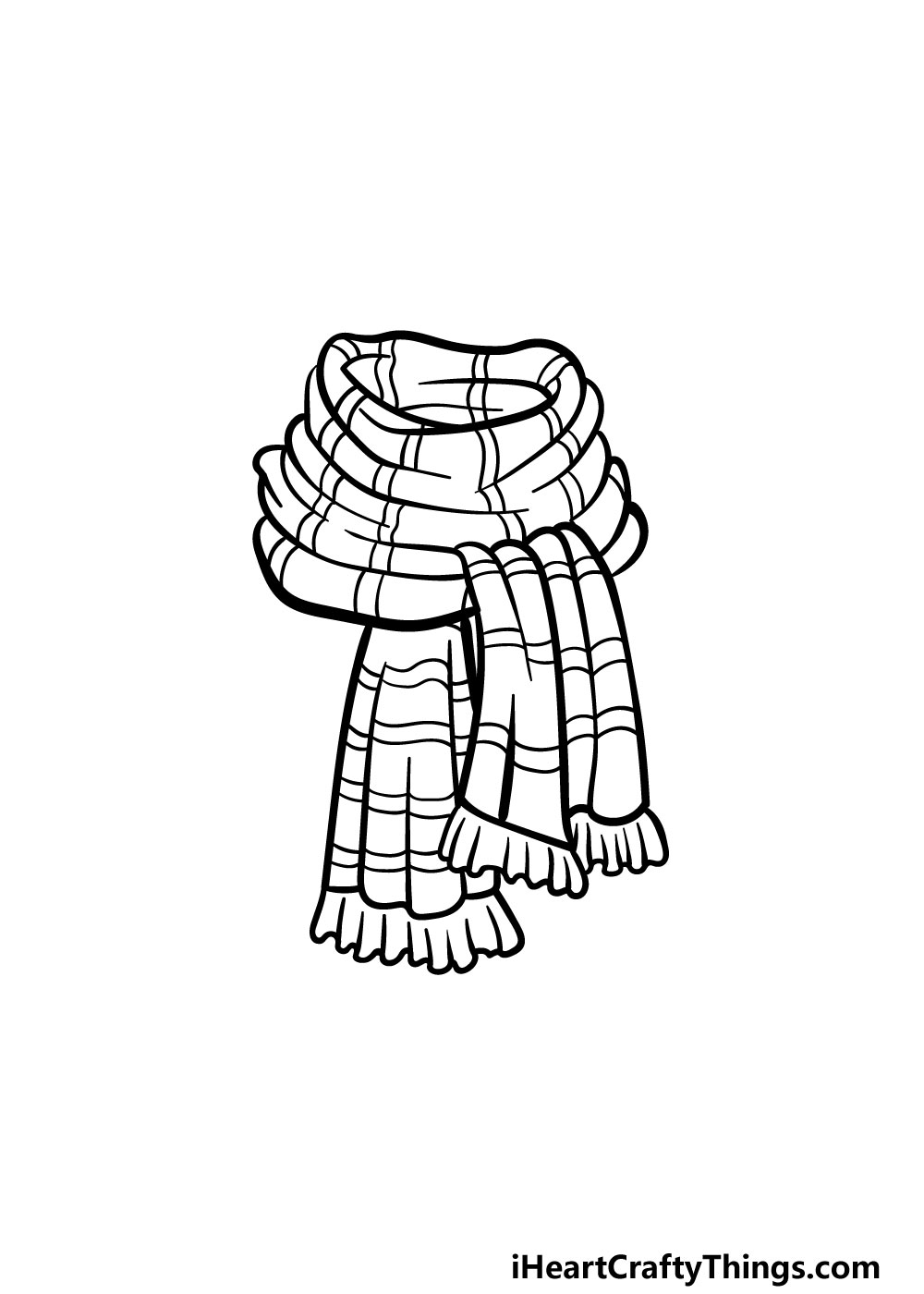 drawing a scarf step 5