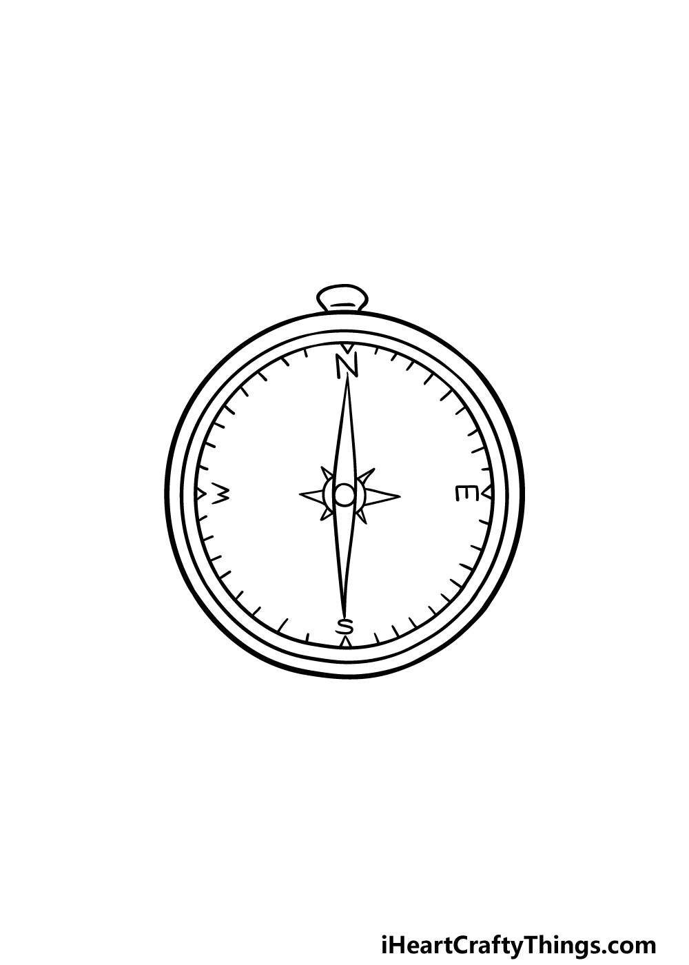 drawing a compass step 5
