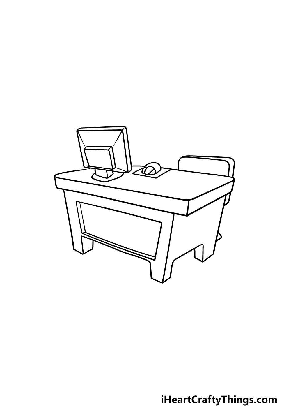 drawing a desk step 5