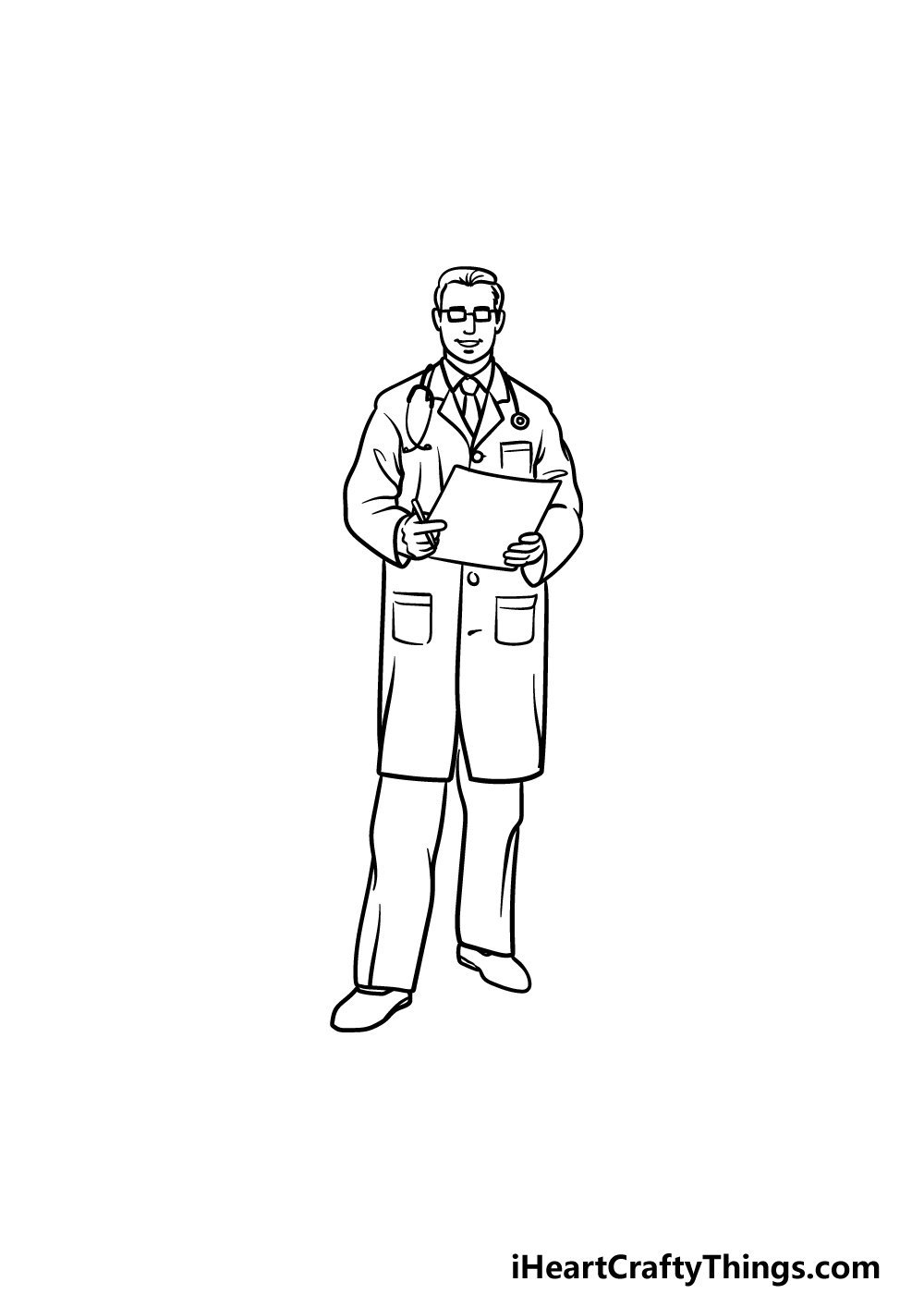 drawing a doctor step 5