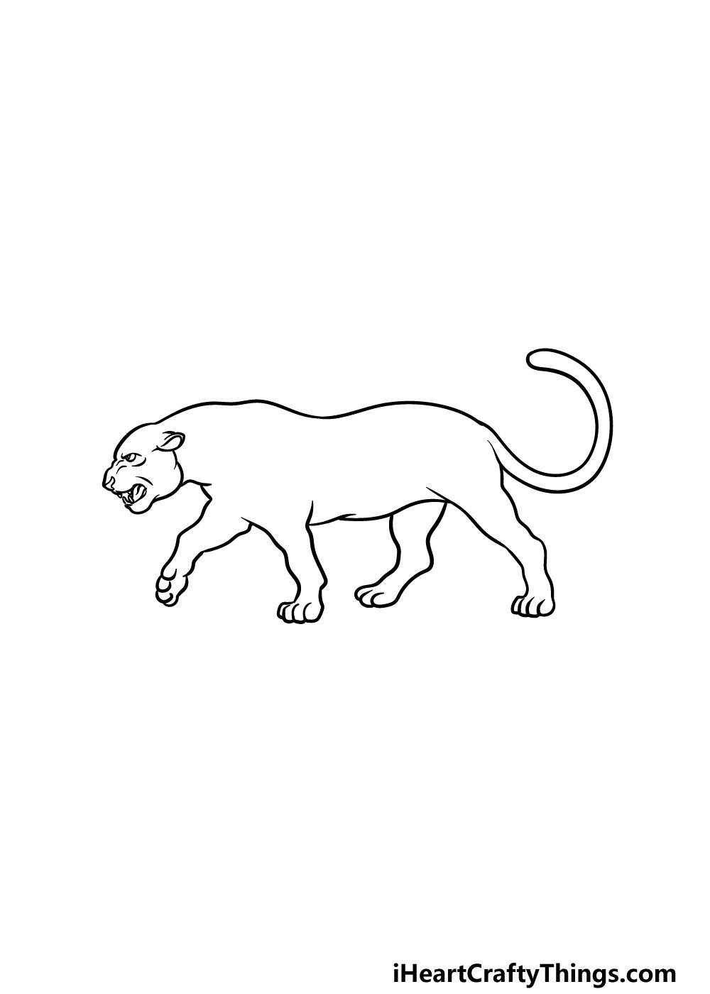 drawing a panther step 5