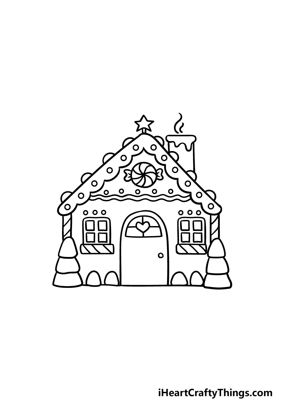 drawing gingerbread house step 5