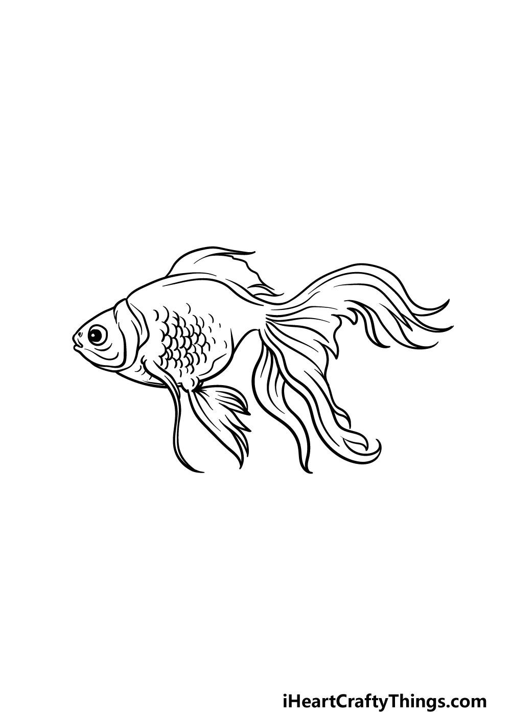 drawing a goldfish step 5