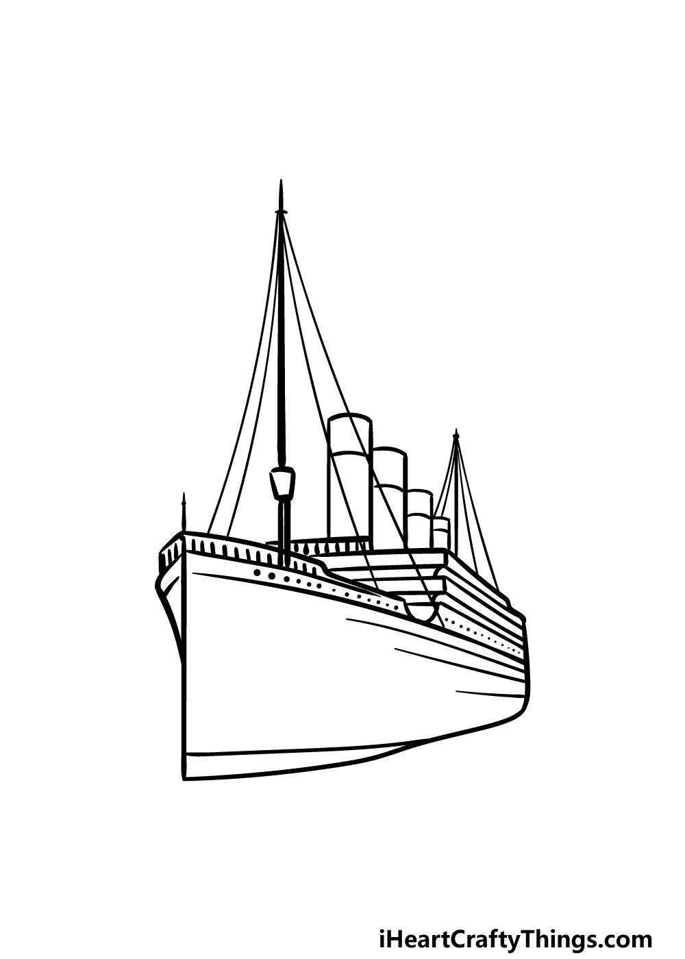 drawing titanic step 5