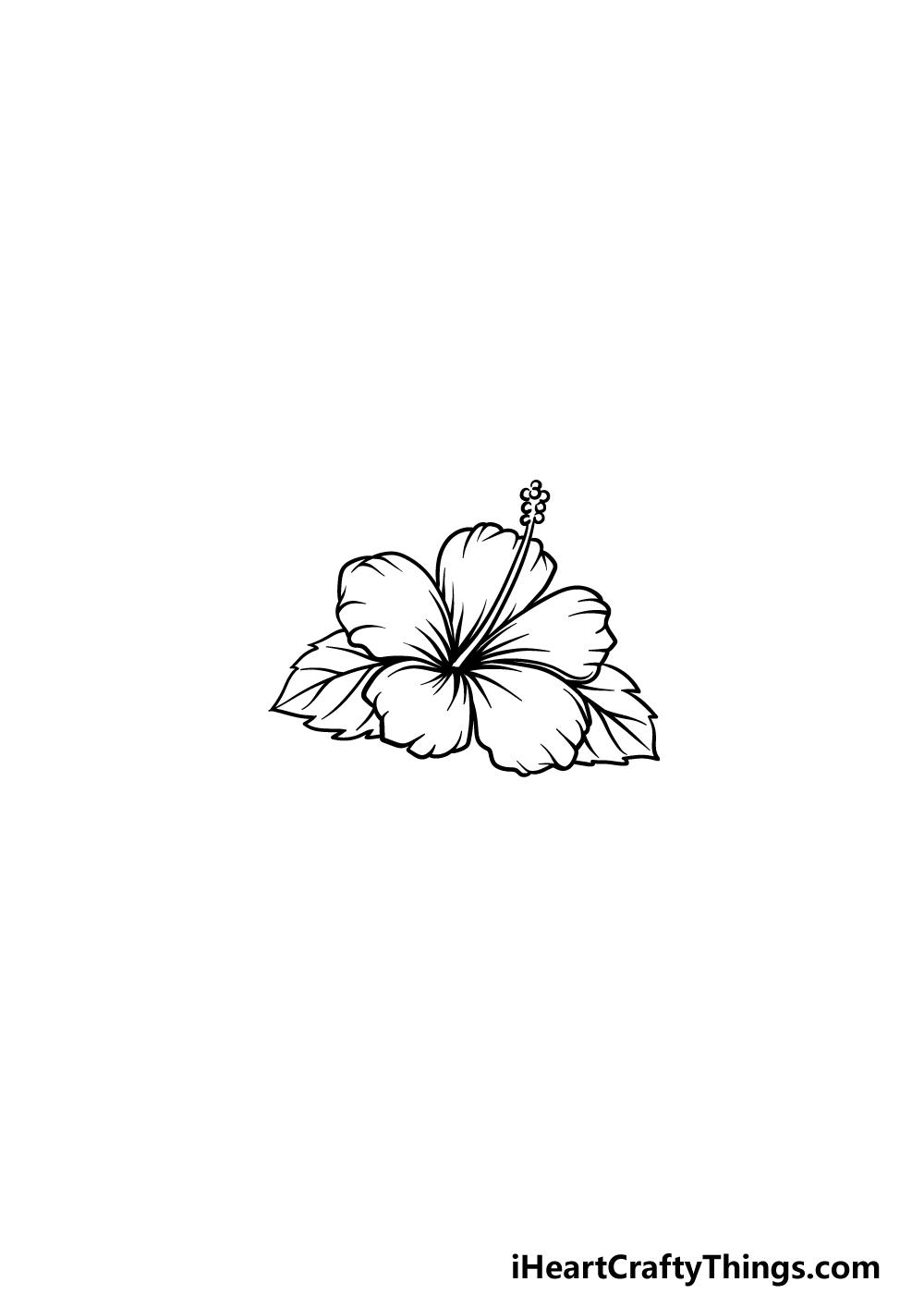drawing Hawaiian Flower step 5