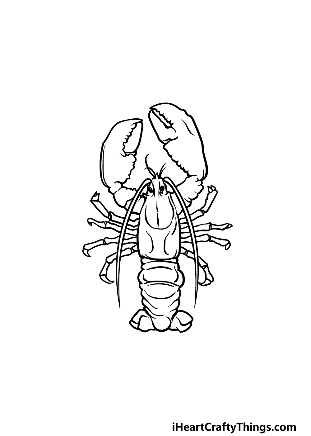 drawing a lobster step 5