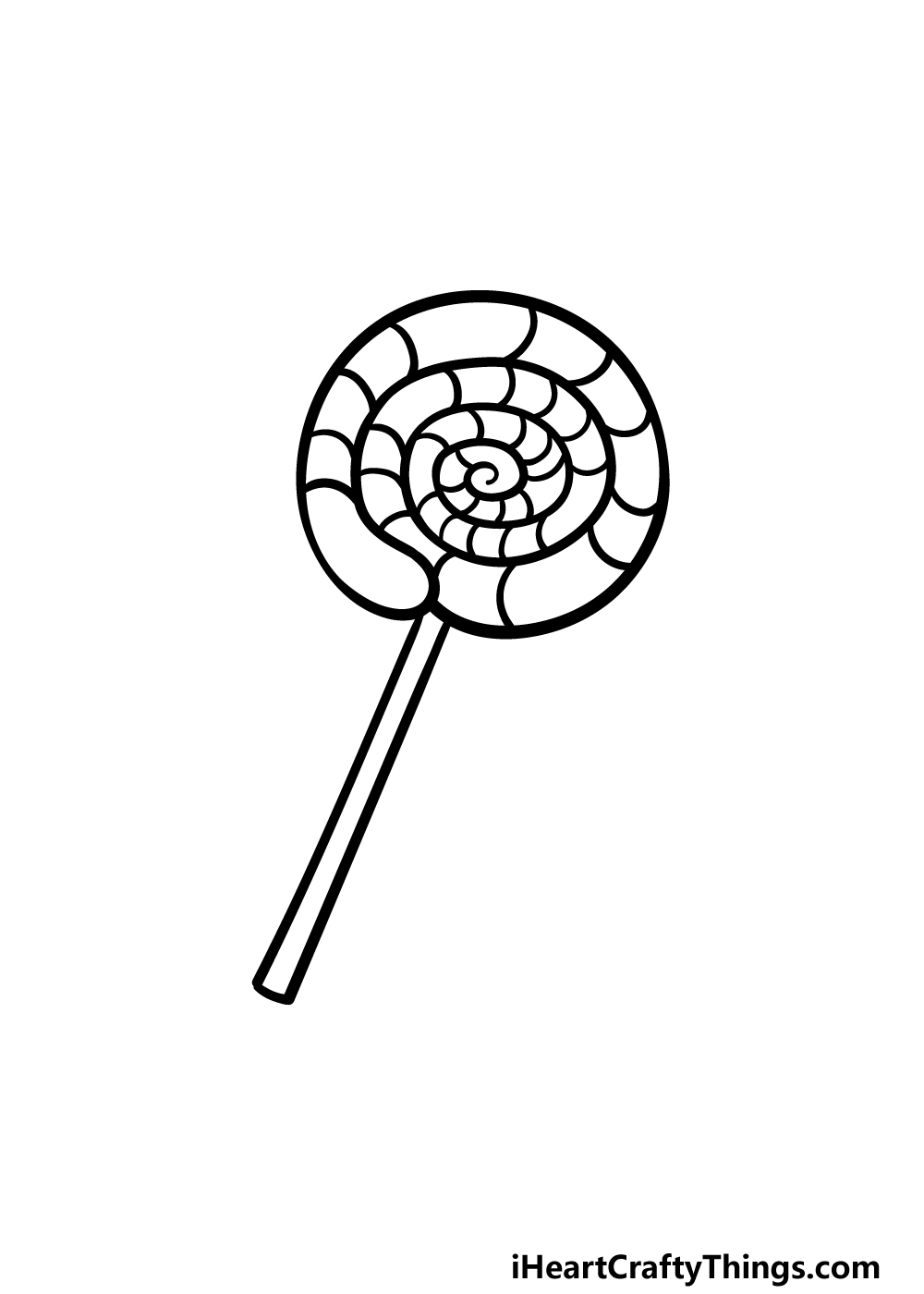 drawing a lollipop step 5