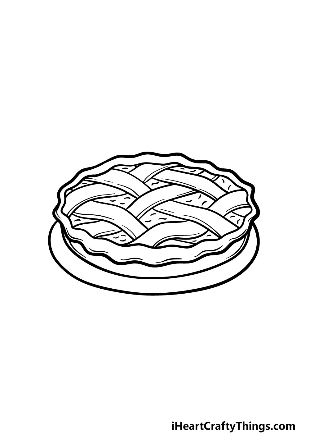 drawing a pie step 5