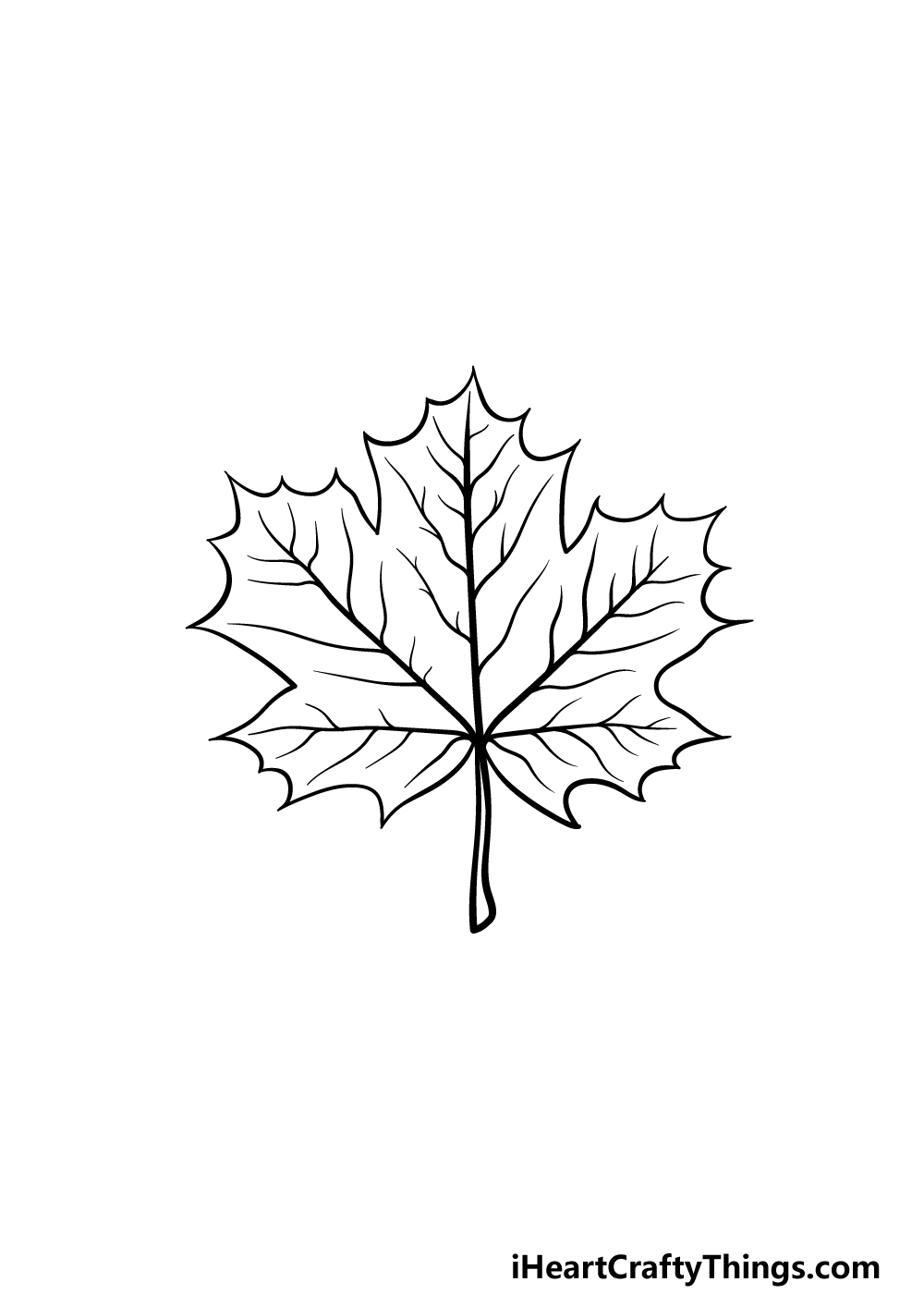 drawing a maple leaf step 5