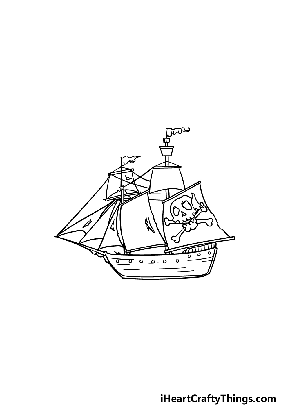 drawing a pirate ship step 5