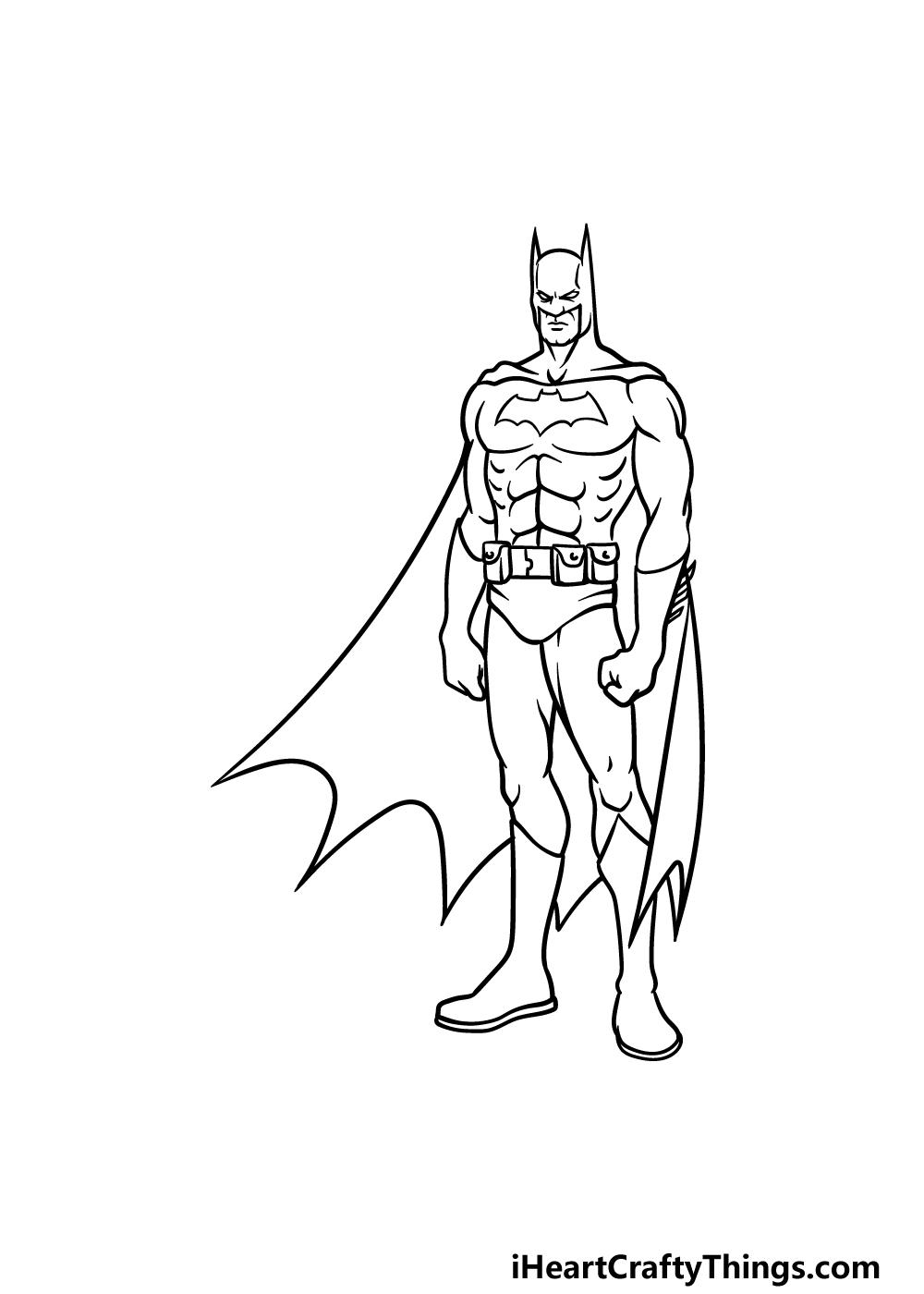 drawing Batman step 5