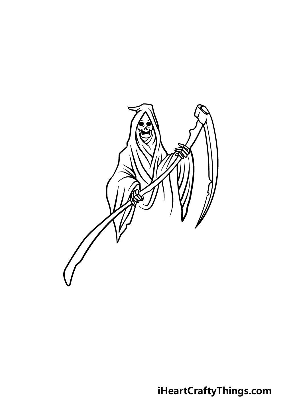 drawing grim reaper step 5
