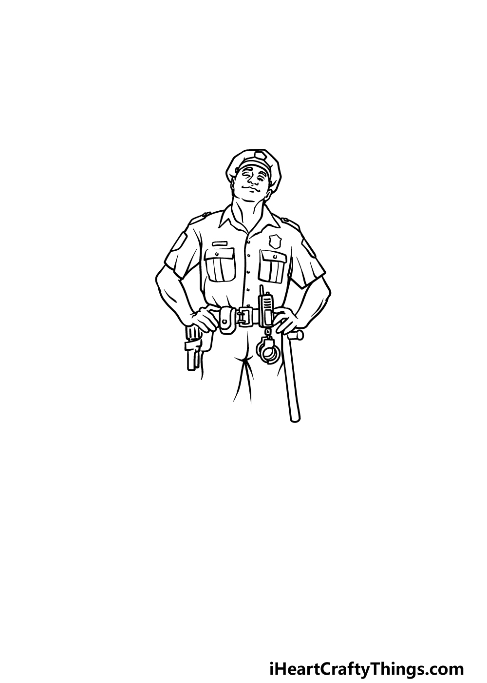 drawing a police officer step 5