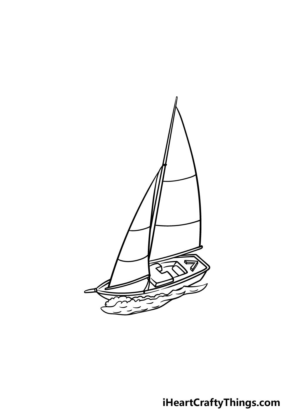 drawing a sailboat step 5