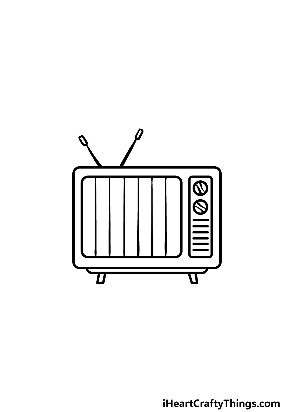 drawing a TV step 5