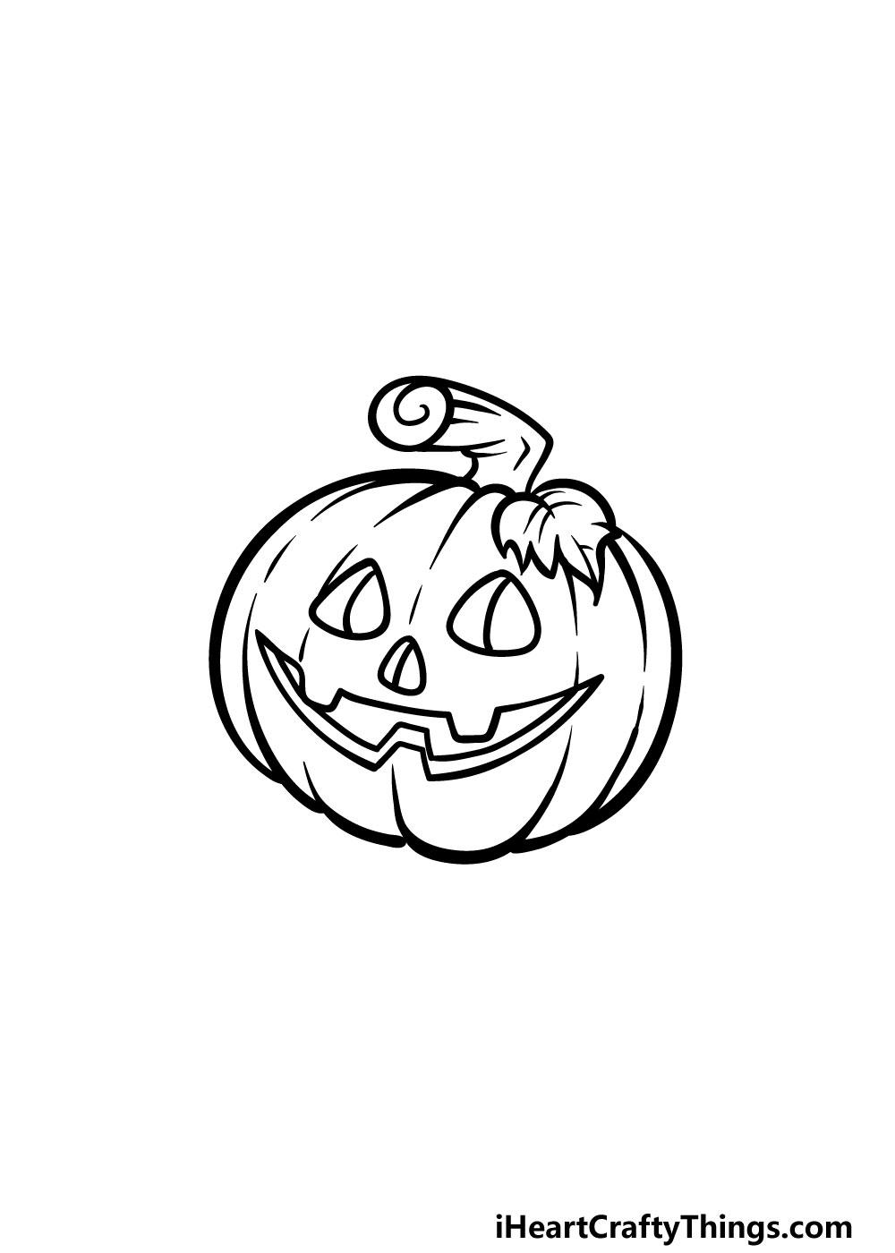 drawing jack-o-lantern step 5