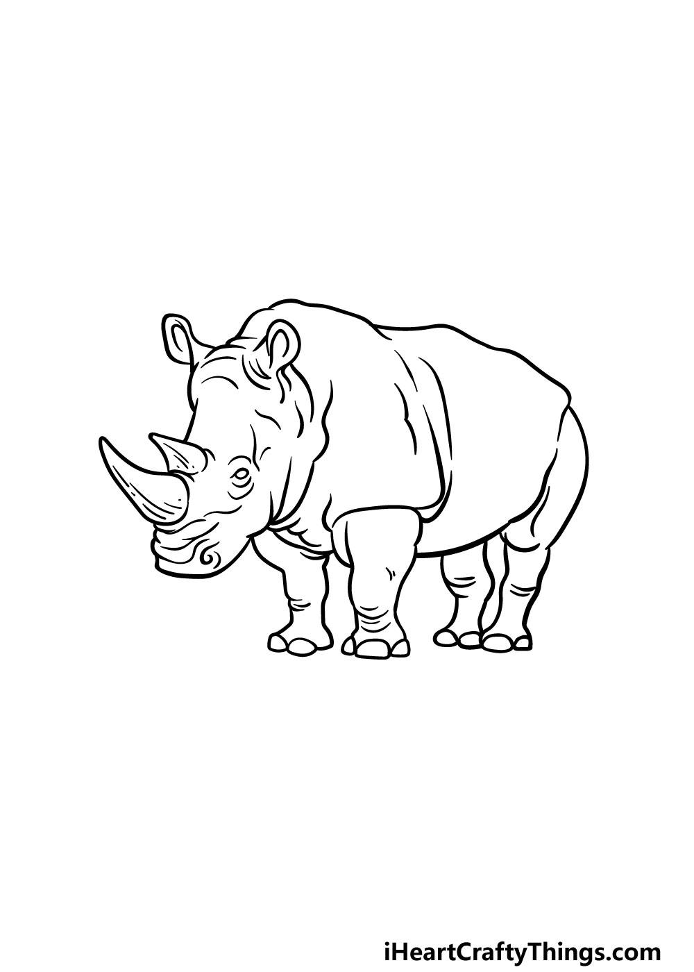 drawing a rhino step 6