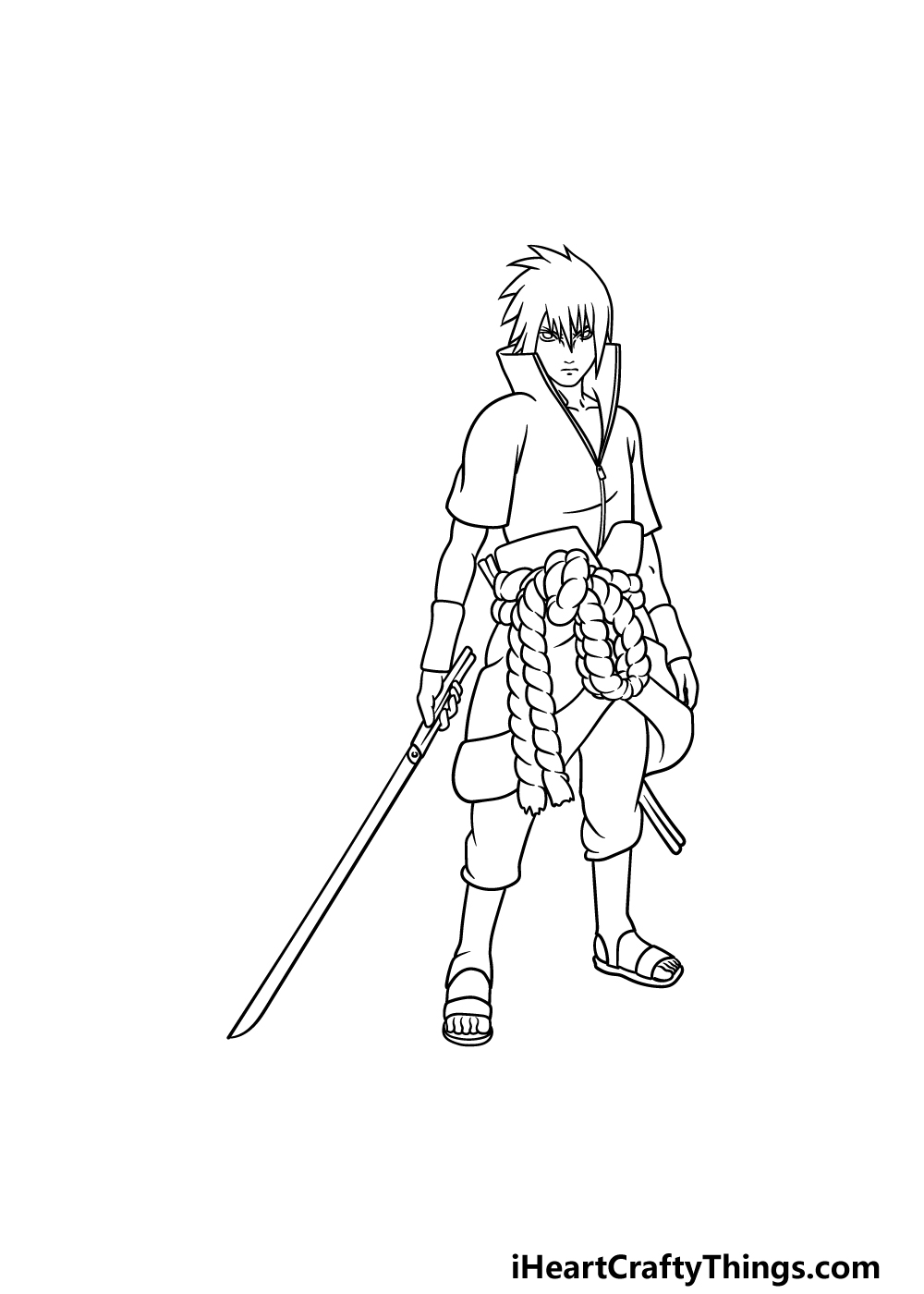 drawing Sasuke step 6