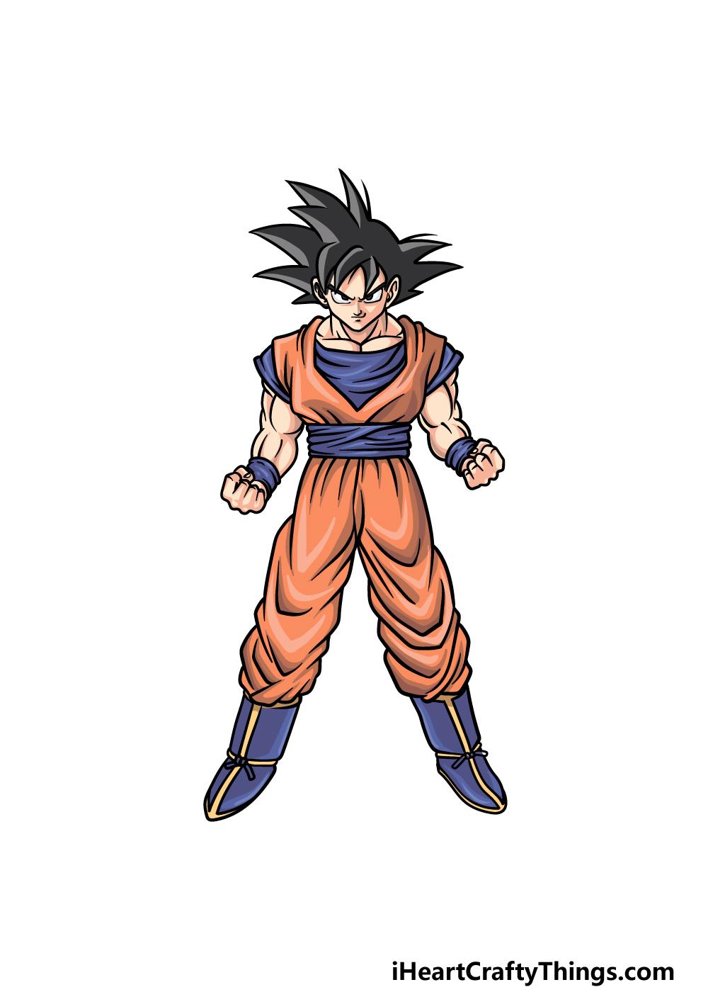 drawing Goku step 6